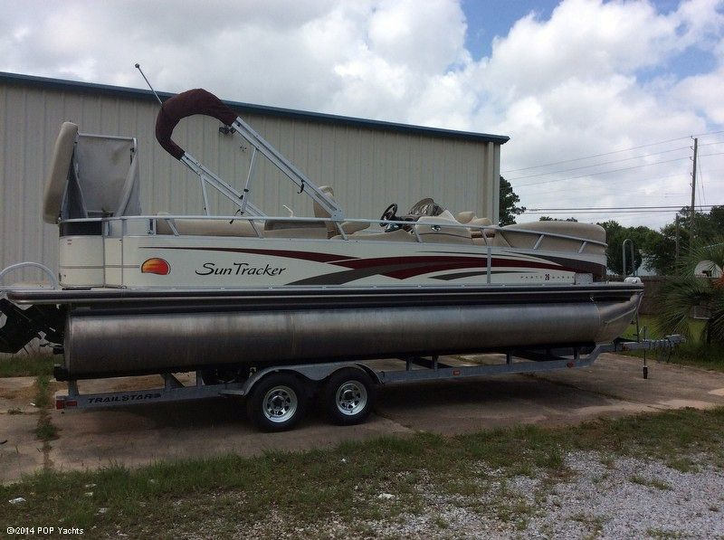 2008 used sun tracker 260 party barge pontoon boat for for Pensacola party boat fishing