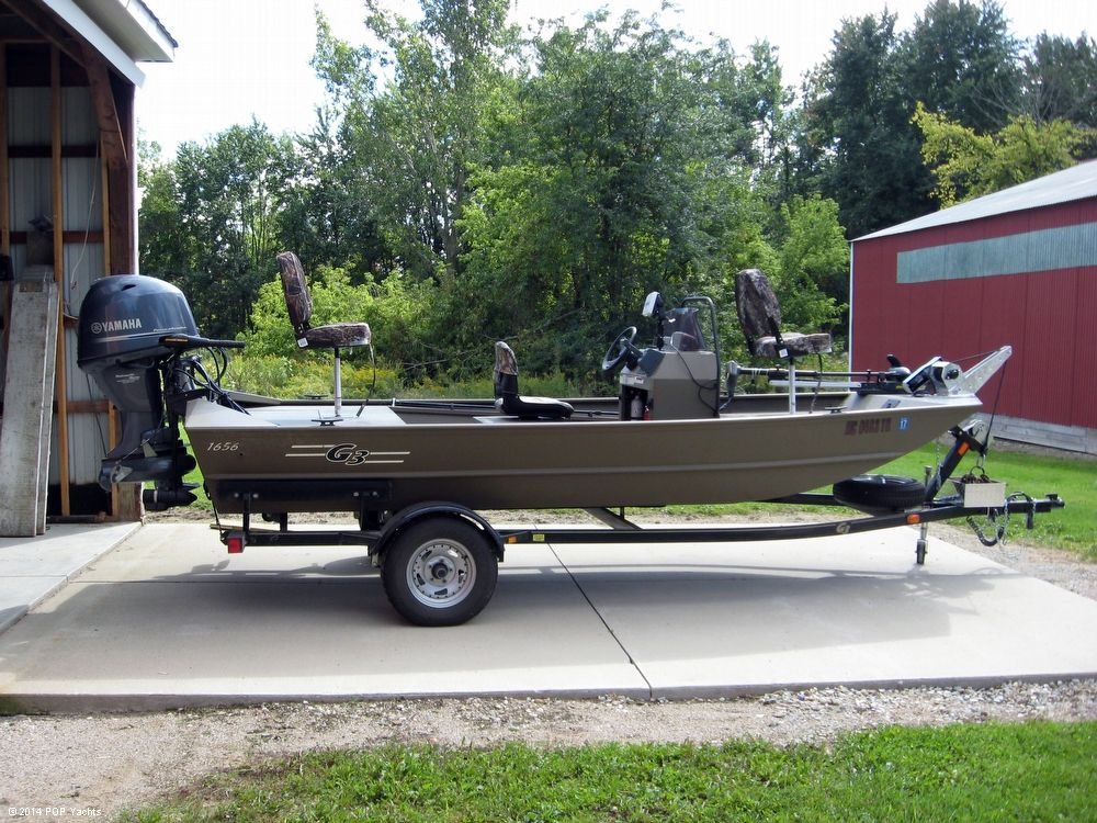 2013 used g3 1656 ccj center console fishing boat for sale for G3 fishing boats