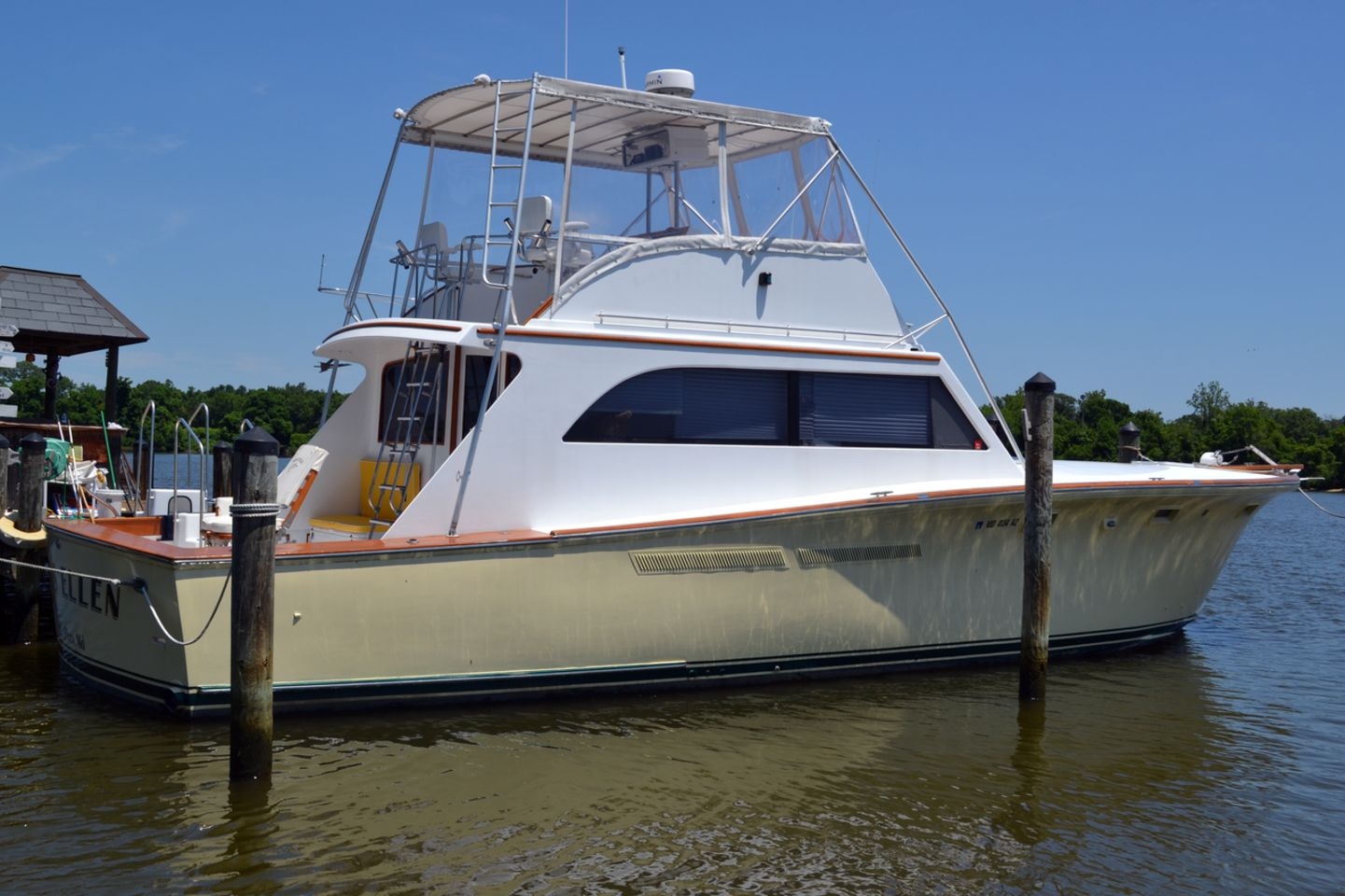1972 used egg harbor 46 sportfisherman convertible fishing for Used fishing boats for sale in md