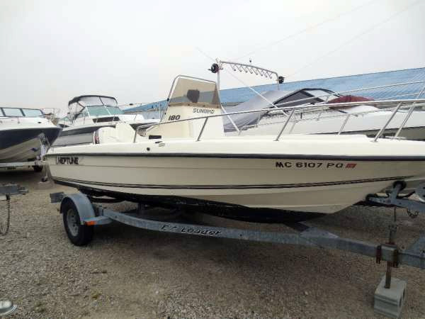 1994 used sunbird 18 cc center console fishing boat for for Fishing boats for sale in ohio