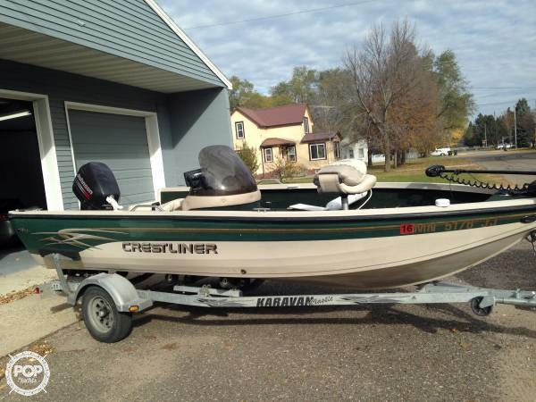 2002 used crestliner 1750 fish hawk aluminum boat for sale for Used fishing boats for sale mn