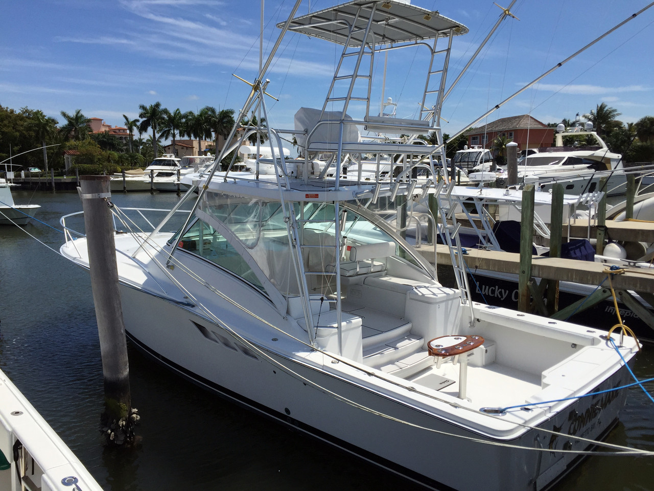 2001 used luhrs express sportfish sports fishing boat for for Sport fishing boats for sale by owner