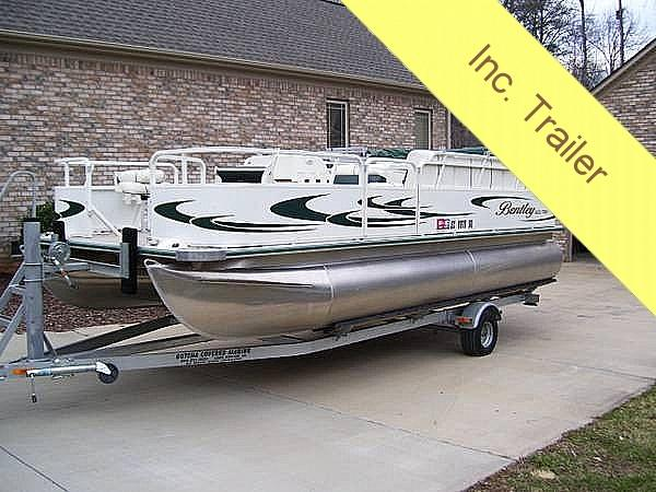 2007 used bentley 200 fish pontoon boat for sale 18 400 for Used fishing pontoon boats for sale