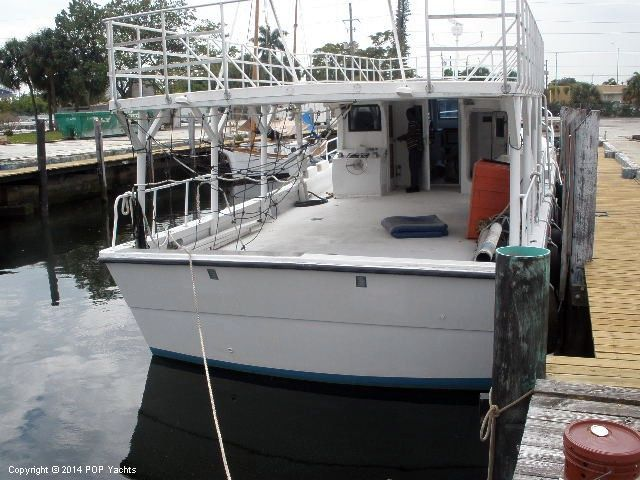 2000 used defender 60 commercial fishing boat cruiser for Commercial fishing boats for sale by owner