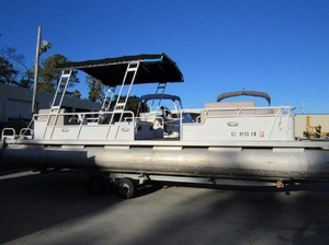 Used Sanpan Boats SP2826 Pontoon Boat For Sale