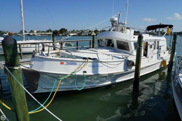 Used Custom 45 Pilothouse Trawler Boat For Sale