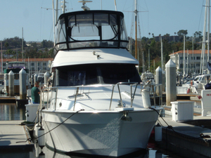 Used Mediterranean 38 Sport Fisher Freshwater Fishing Boat For Sale