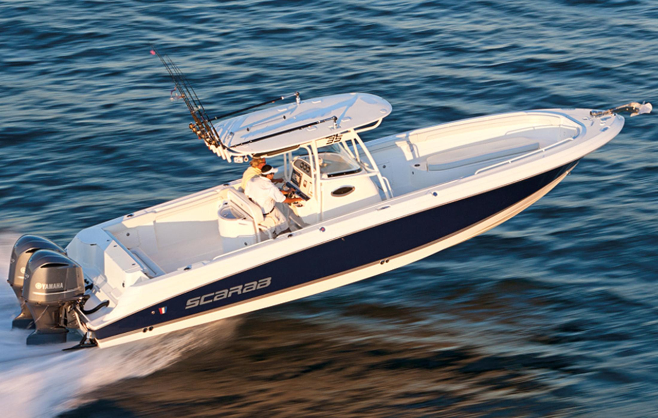 2017 new wellcraft 35 scarab offshore tournament center for Offshore fishing boats