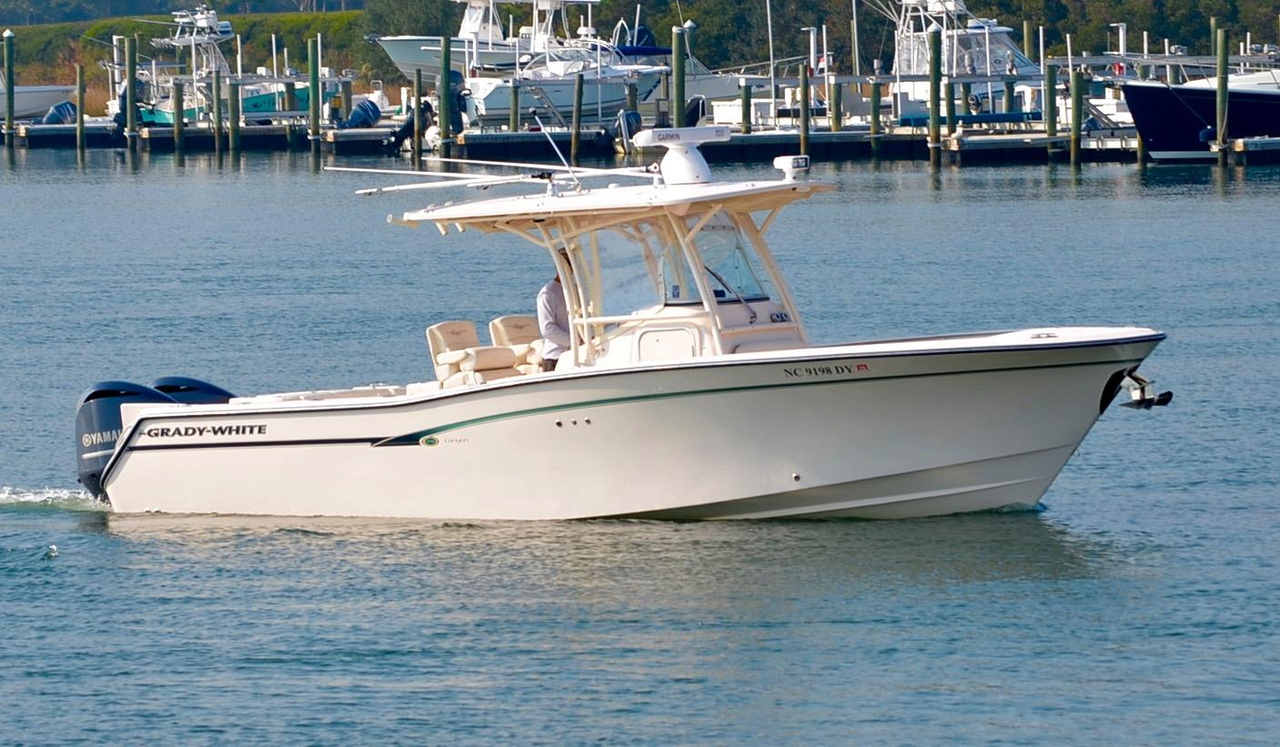 2014 used grady white 306 helm master center console for Grady white fishing boats