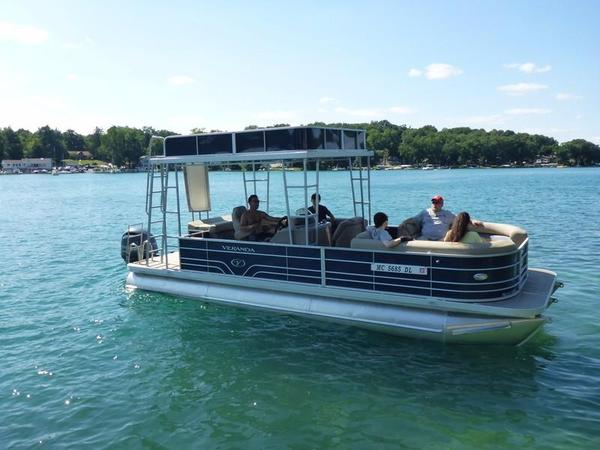 New Veranda V25 Hard Top TT Pontoon Boat For Sale