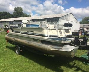 Used Crest Pontoons CREST II FISHING PONTOON Boat For Sale