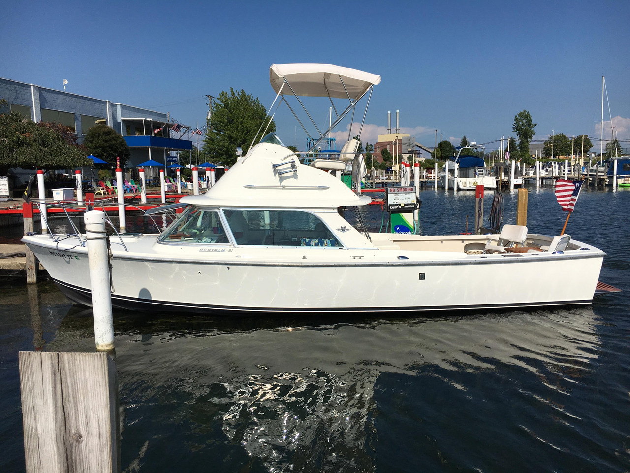 1972 used bertram 31 sportfish freshwater fishing boat for for Used fishing boats for sale in michigan
