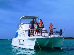 Used Voyager V1040 Flybridge Power Catamaran Boat For Sale