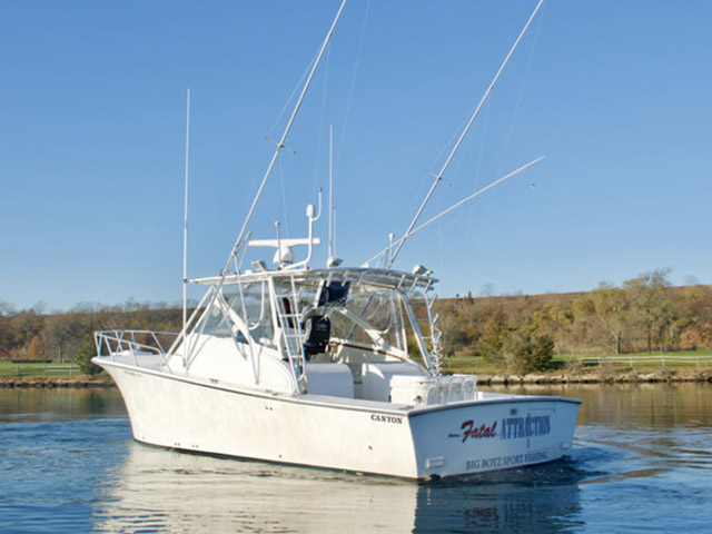2003 used canyon 36 express sports fishing boat for sale for Fishing boats long island