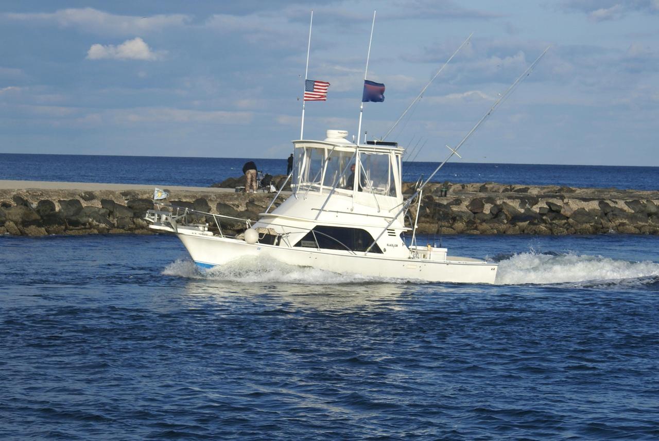 1987 used blackfin 32 flybridge32 flybridge sports fishing for Fishing boats nj