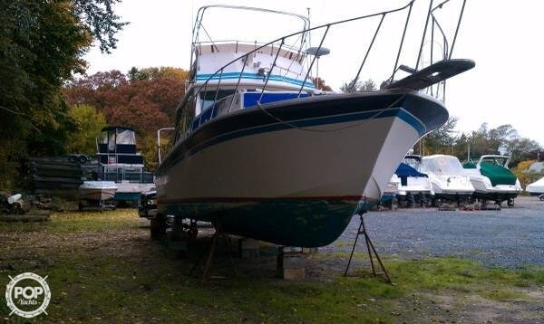1980 Used Burns Craft 40 Sports Fishing Boat For Sale