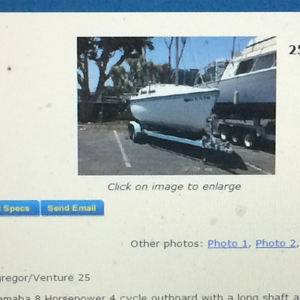 Used Macgregor 25 Daysailer Sailboat For Sale