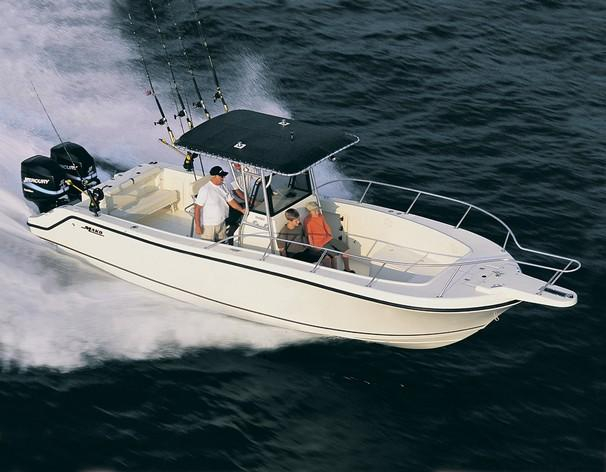 1999 used mako 282 center console saltwater fishing boat for Offshore fishing boats for sale