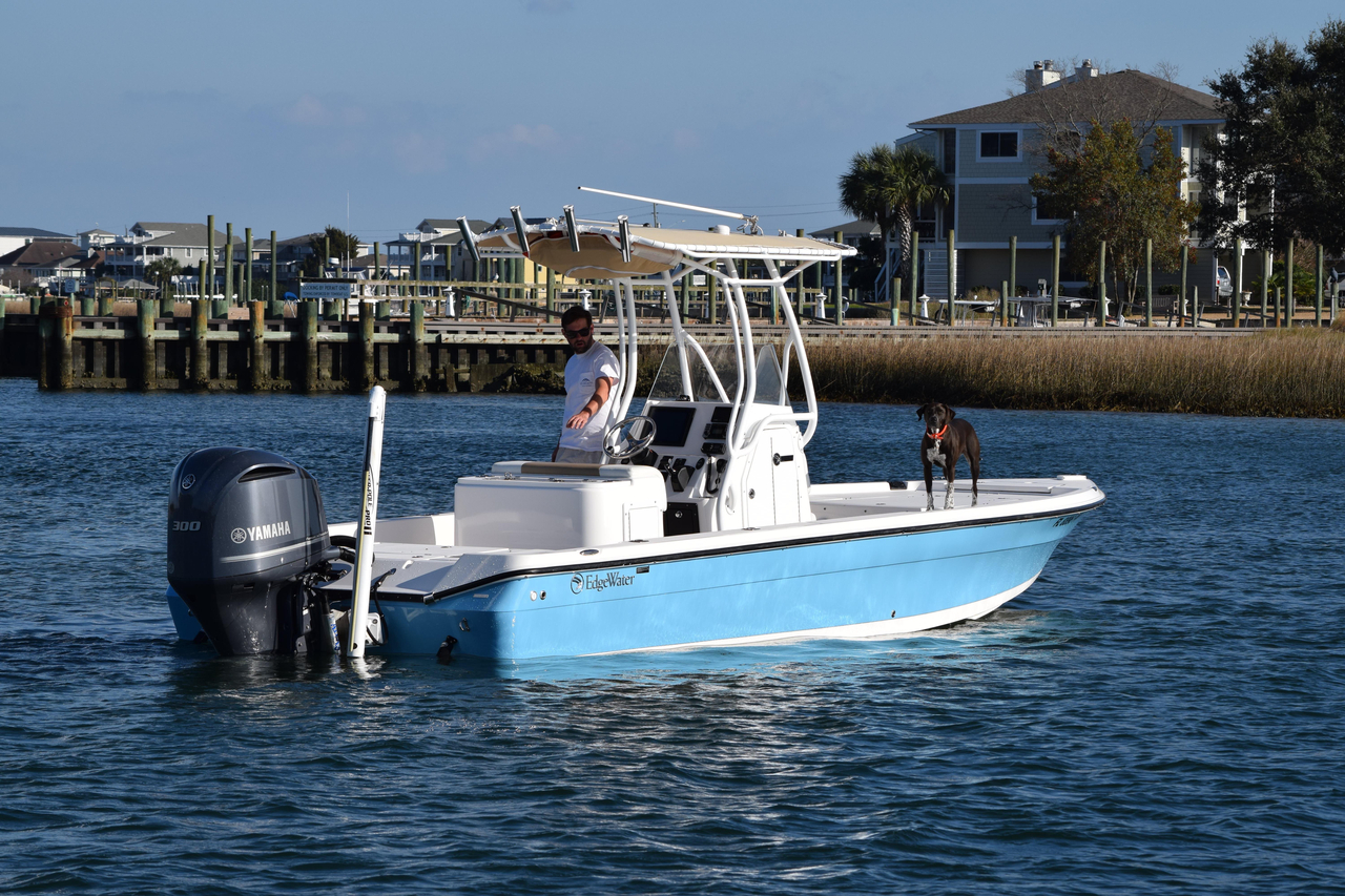 2015 used edgewater 240 inshore saltwater fishing boat for for Salt water fishing boats