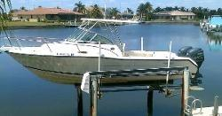 Used Pro Line 240 Walk Around Center Console Fishing Boat For Sale