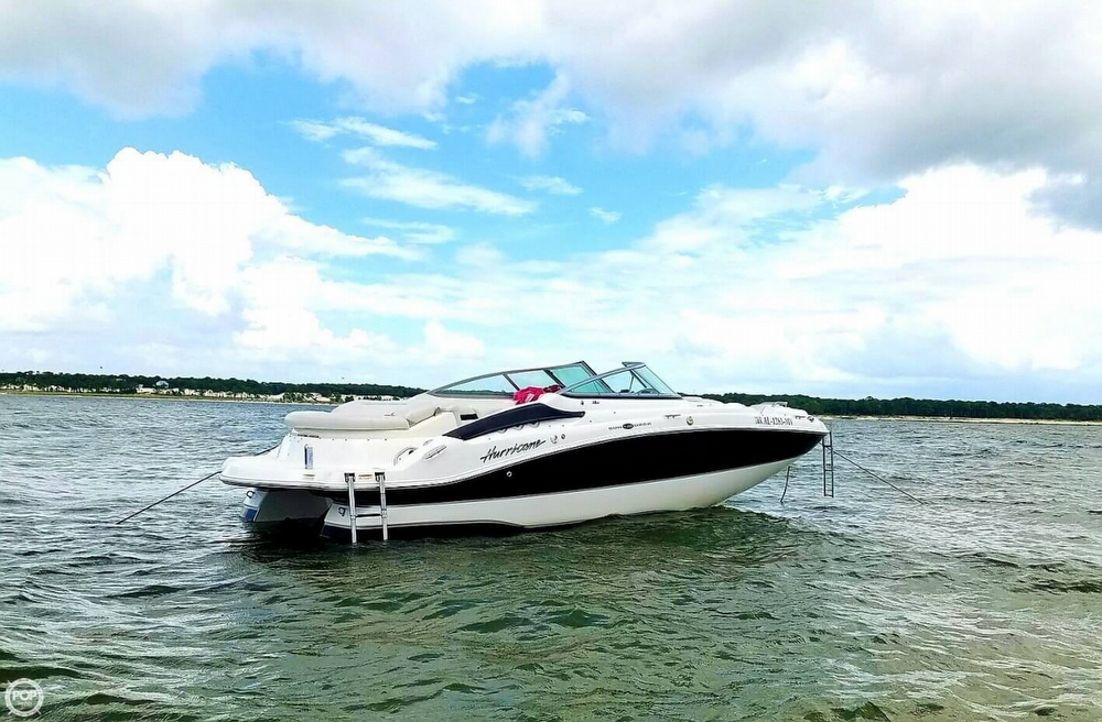 2008 used hurricane 2200 sundeck deck boat for sale for Hurricane sundeck for sale