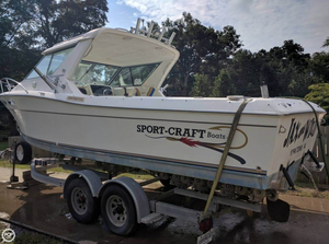 Used Sportcraft 252 Fishmaster Walkaround Fishing Boat For Sale