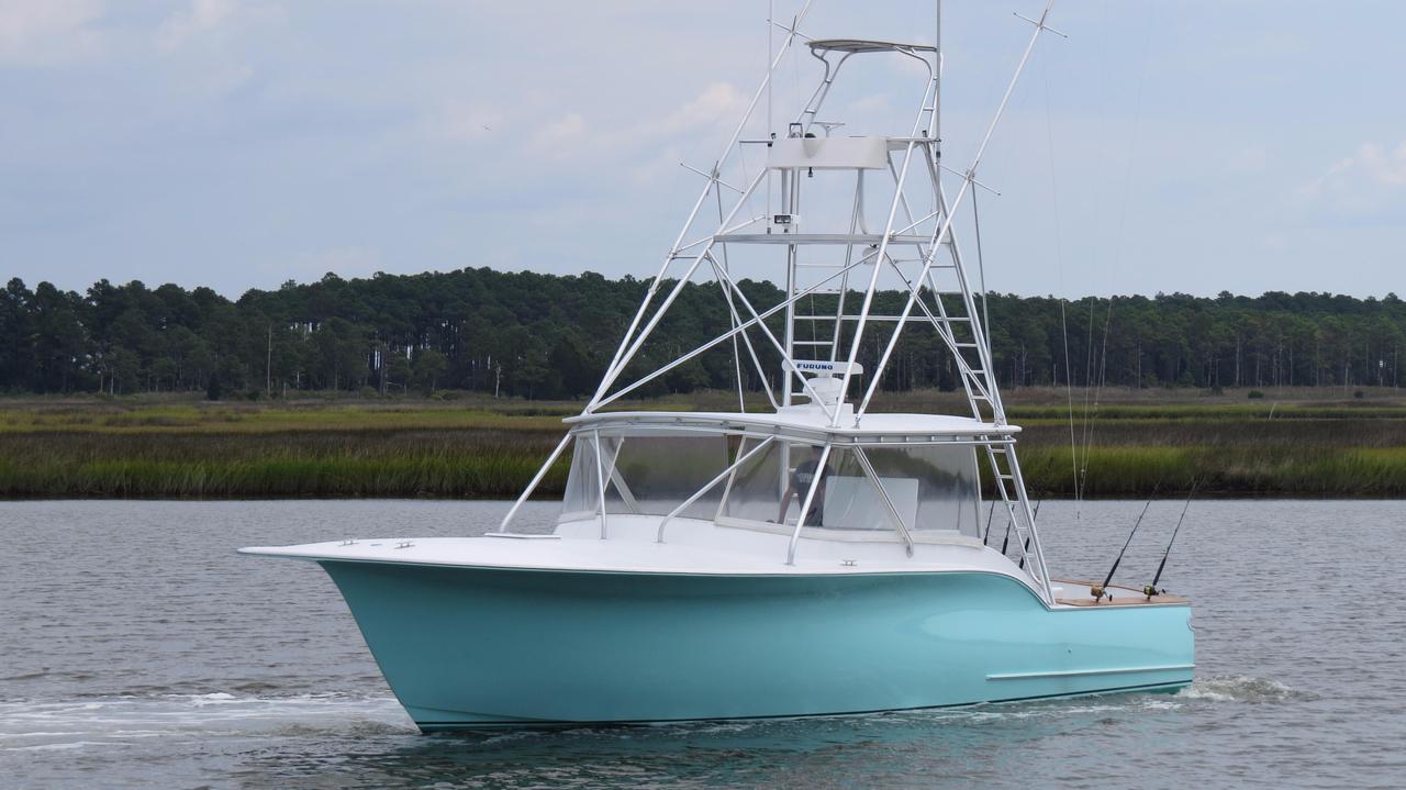 2003 used capps custom carolina 40 express sportfisherman for Express fishing boats