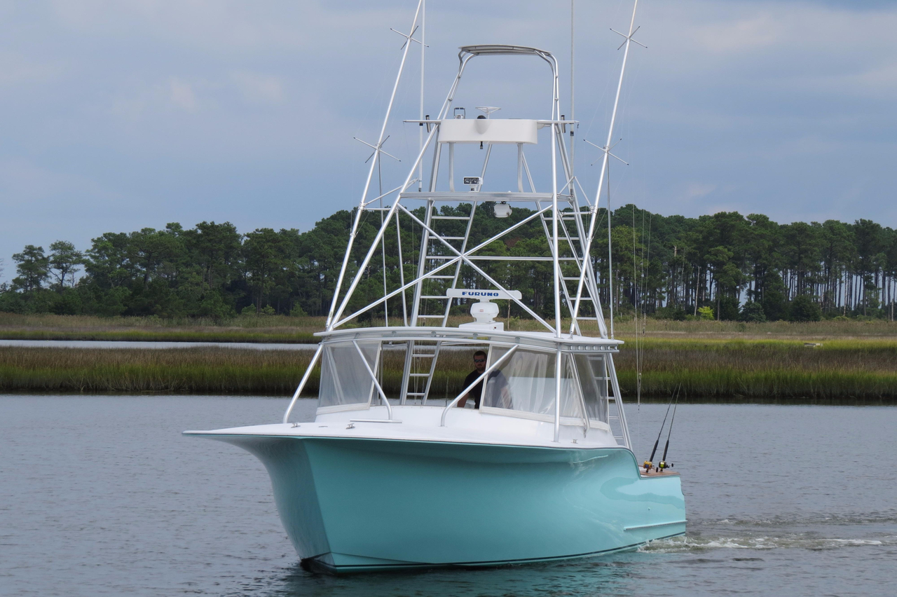 2003 used capps custom carolina 40 express sportfisherman for Sport fishing boats for sale by owner