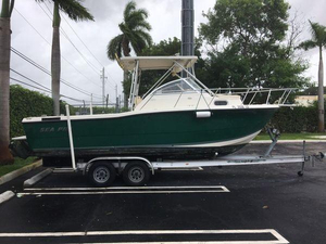 Used Sea Pro 235 Walk Around Walkaround Fishing Boat For Sale