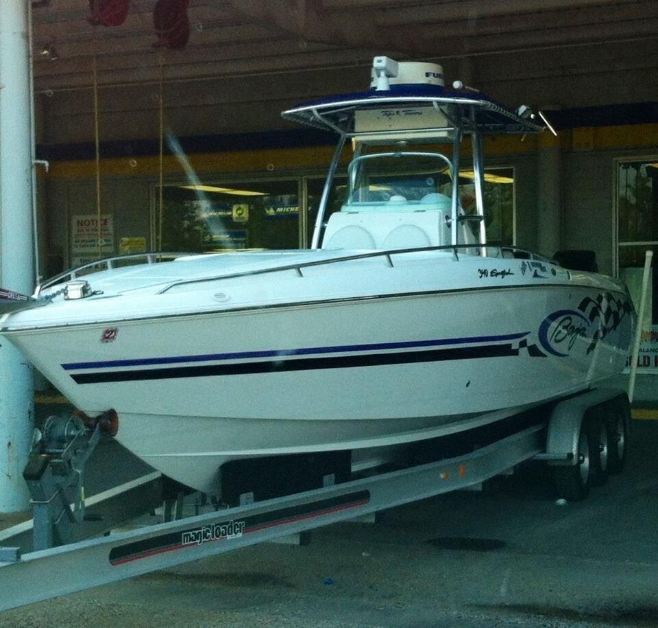 2002 used baja 340 sportfish sports fishing boat for sale for Fishing boats for sale in texas