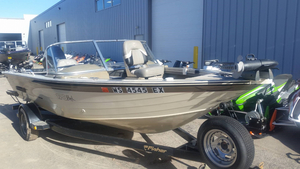 Used Fisher Hawk 170 SC/FS Aluminum Fishing Boat For Sale