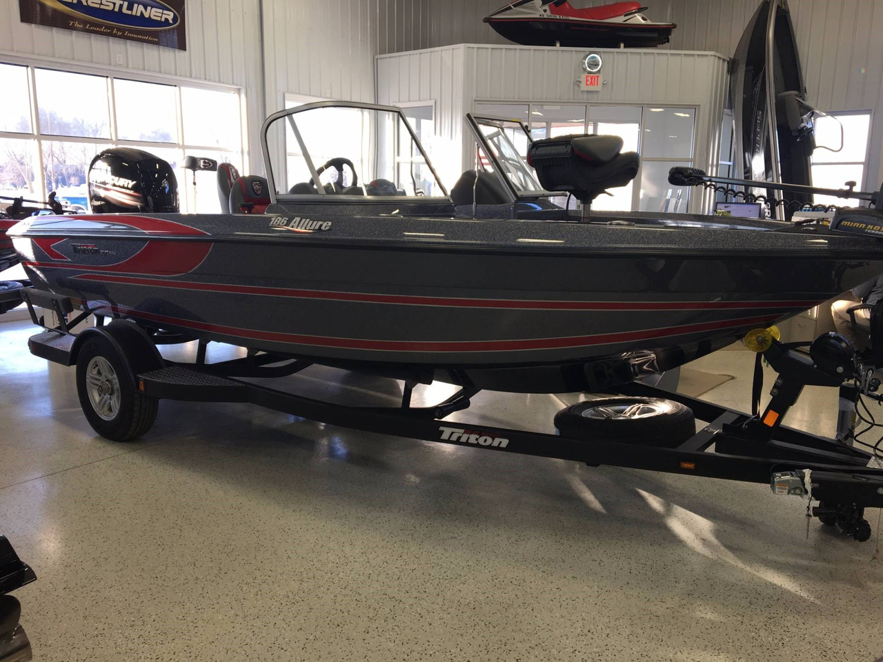 2017 new triton 186 allure ski and fish boat for sale for Best fish and ski boats 2017