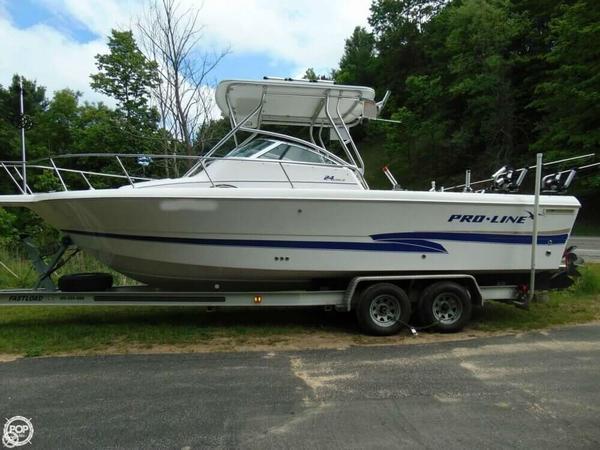 Used Pro-Line 24 Walk Walkaround Fishing Boat For Sale