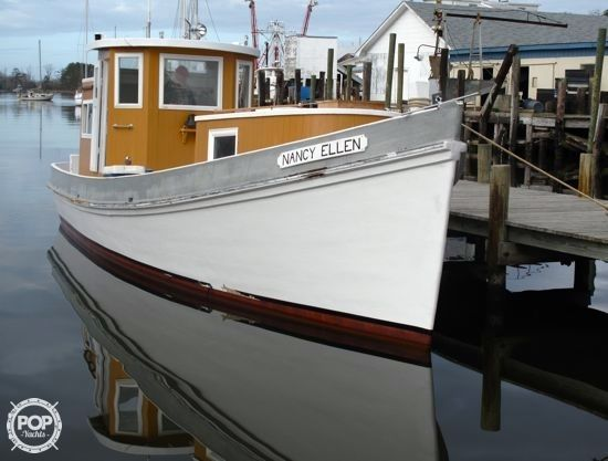 1954 used ambrose fulcher 34 round stern fishing boat for Used fishing boats for sale in eastern nc