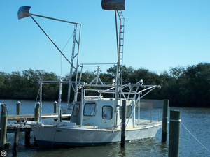 Used Lafitte 29 Shrimper Skimmer Commercial Boat For Sale