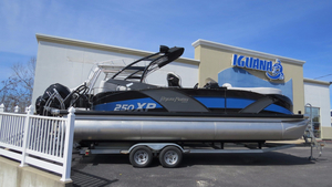 Used Aqua Patio 250 Express Pontoon Boat For Sale