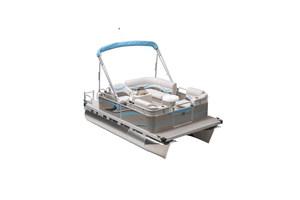 New Apex Qwest 7514 Edge Cruise Pontoon Boat For Sale