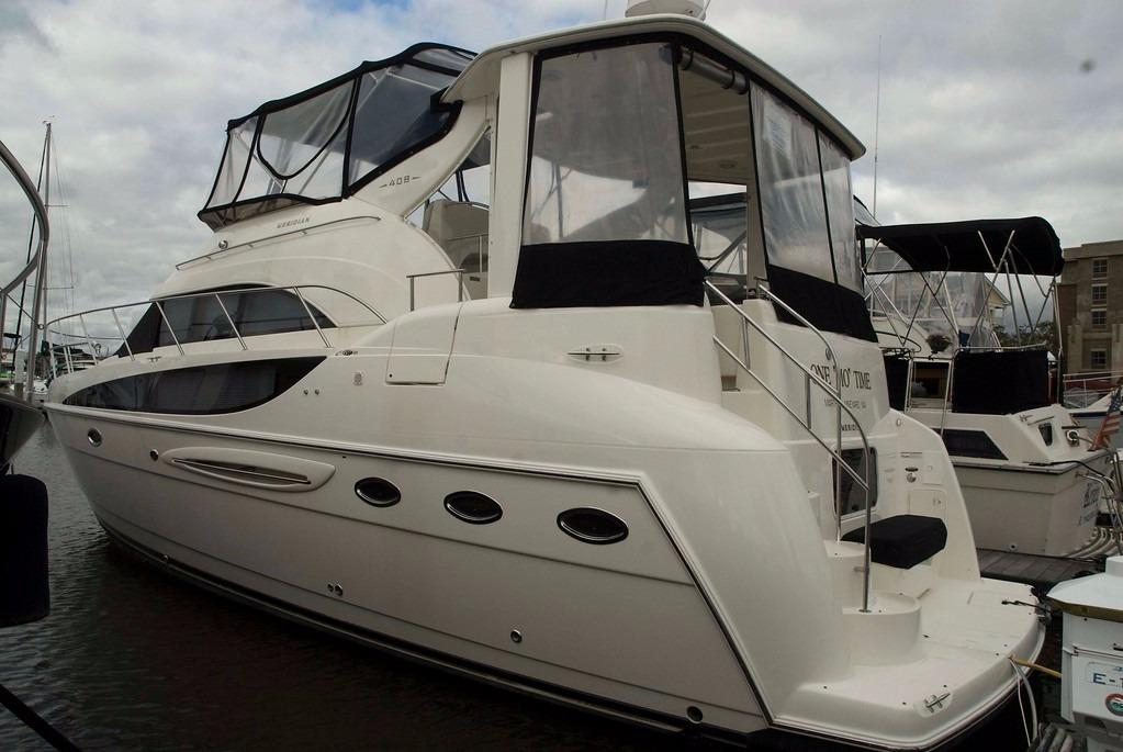 2007 used meridian 408 motoryacht aft cabin boat for sale for Used boat motors for sale in sc