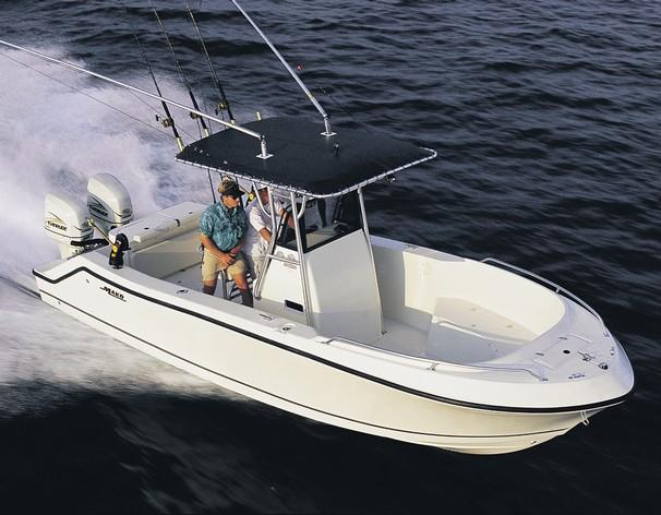 2003 used mako 252 center console saltwater fishing boat for Used center console fishing boats for sale