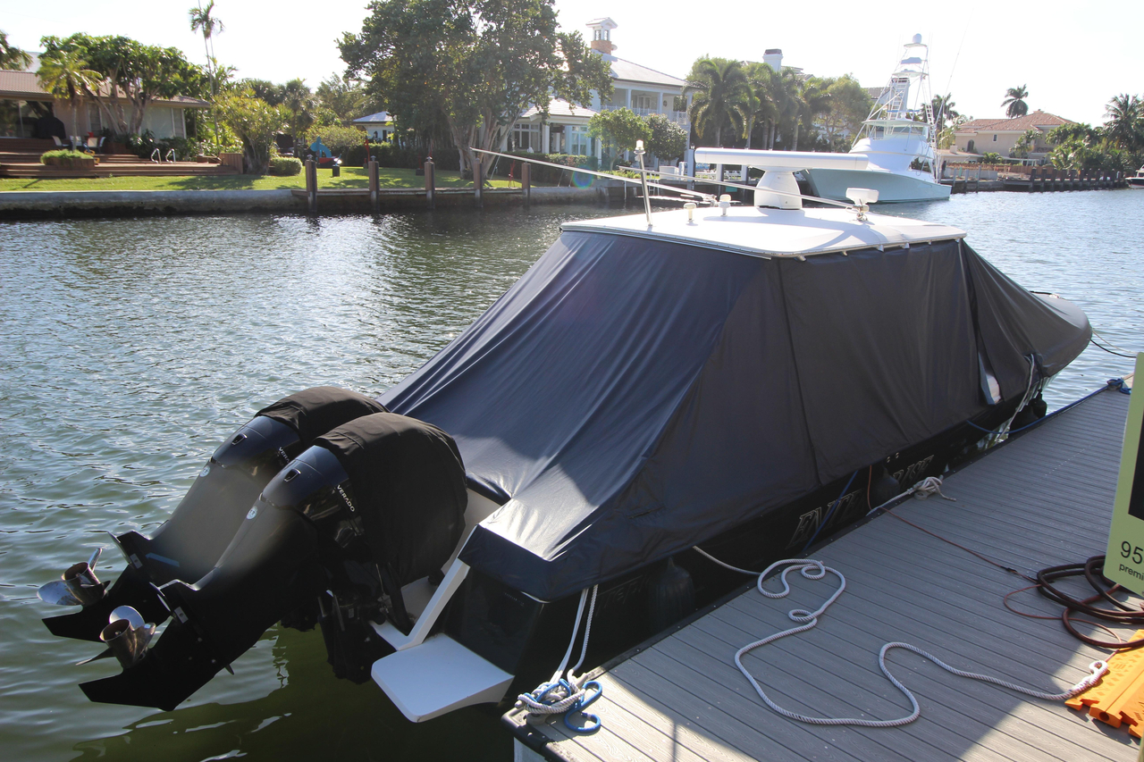 2008 used intrepid 323 cuddy center console fishing boat for Commercial deep sea fishing boats for sale