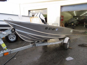 Used Gregor three seater lake boat Aluminum Fishing Boat For Sale