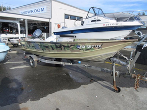 "Used Gregor 13'4"" welded aluminum Fishing Boat For Sale"