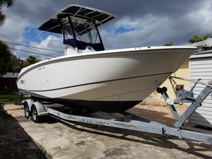 Used Boston Whaler 240 Outrage Saltwater Fishing Boat For Sale