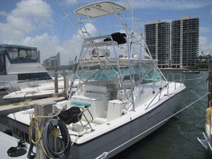 Used Rampage 38 Express Saltwater Fishing Boat For Sale