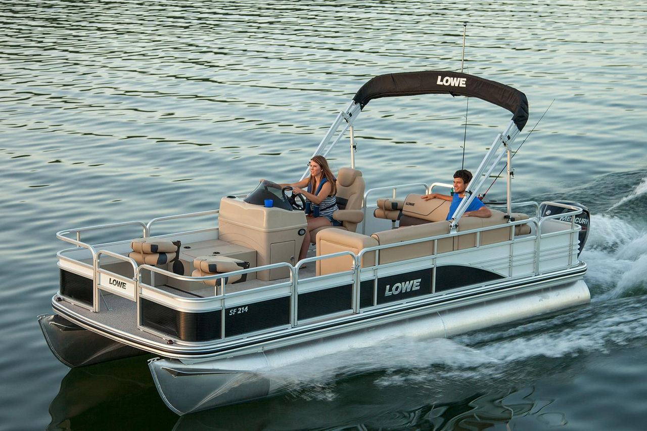 2017 new lowe sf214 sport fish pontoon boat for sale for Fishing pontoon boats