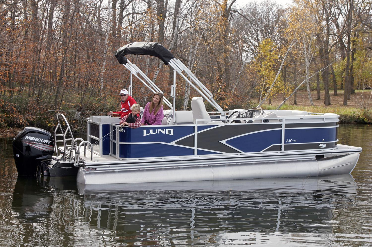Lund Boat Dealers >> 2017 New Lund LX220 Pontoon Boat For Sale - Coldwater, MI | Moreboats.com