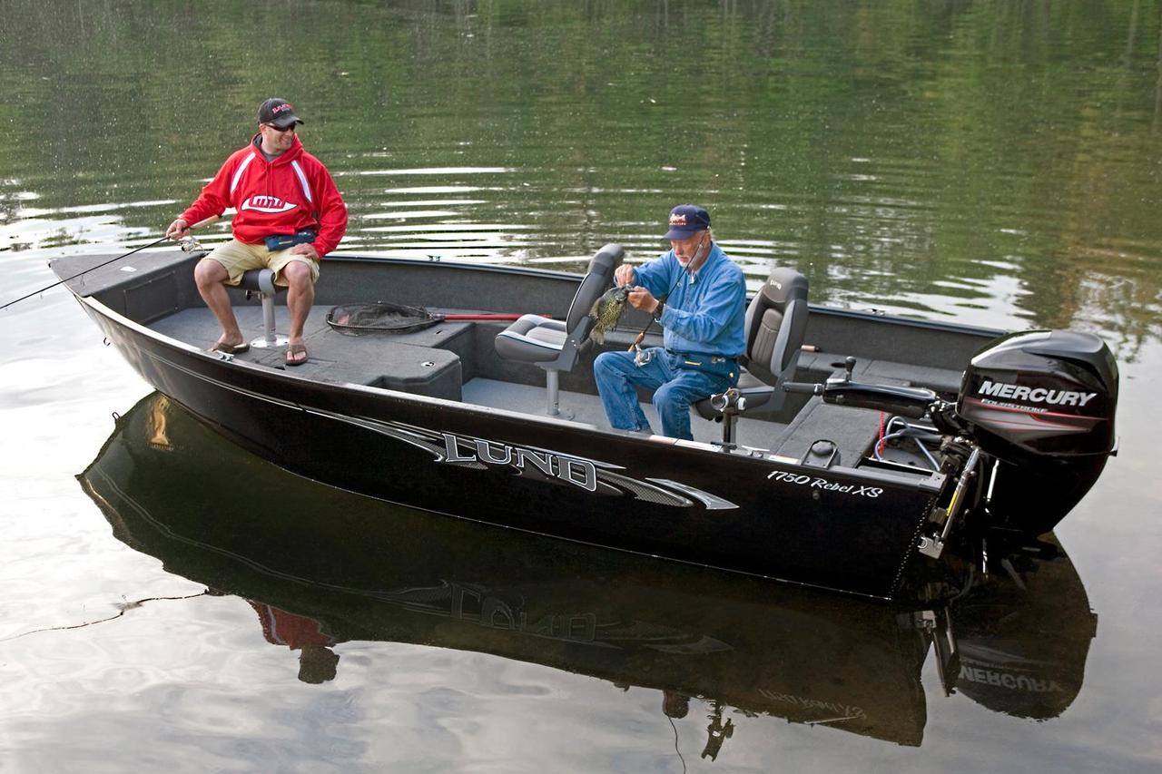 2017 new lund 1750 rebel xs tiller aluminum fishing boat for Fishing boat for sale