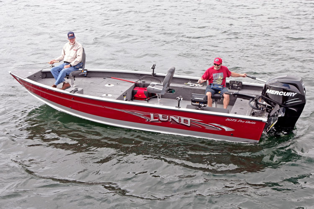 2017 new lund 2075 pro guide aluminum fishing boat for for Used aluminum fishing boats for sale in michigan