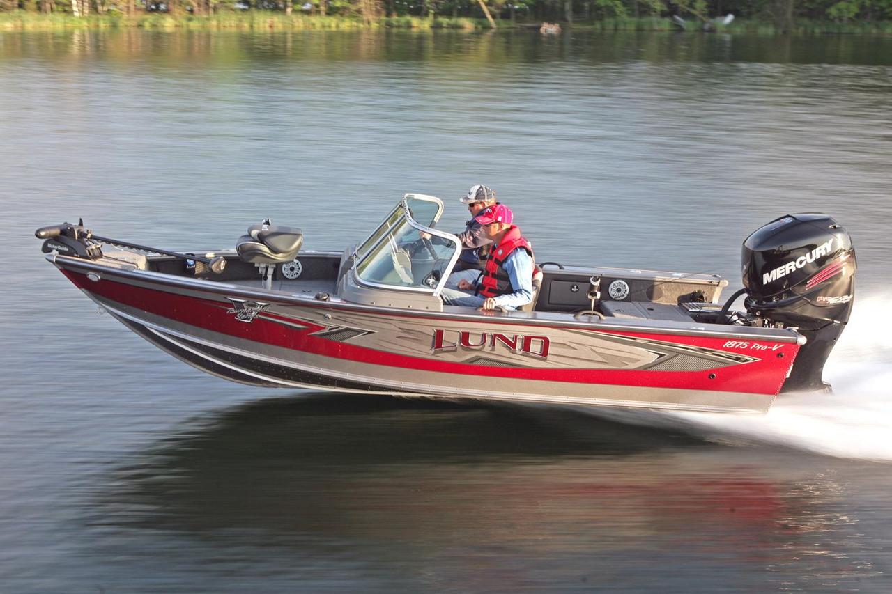 2017 new lund 1875 pro v sport freshwater fishing boat for for Freshwater fishing boats