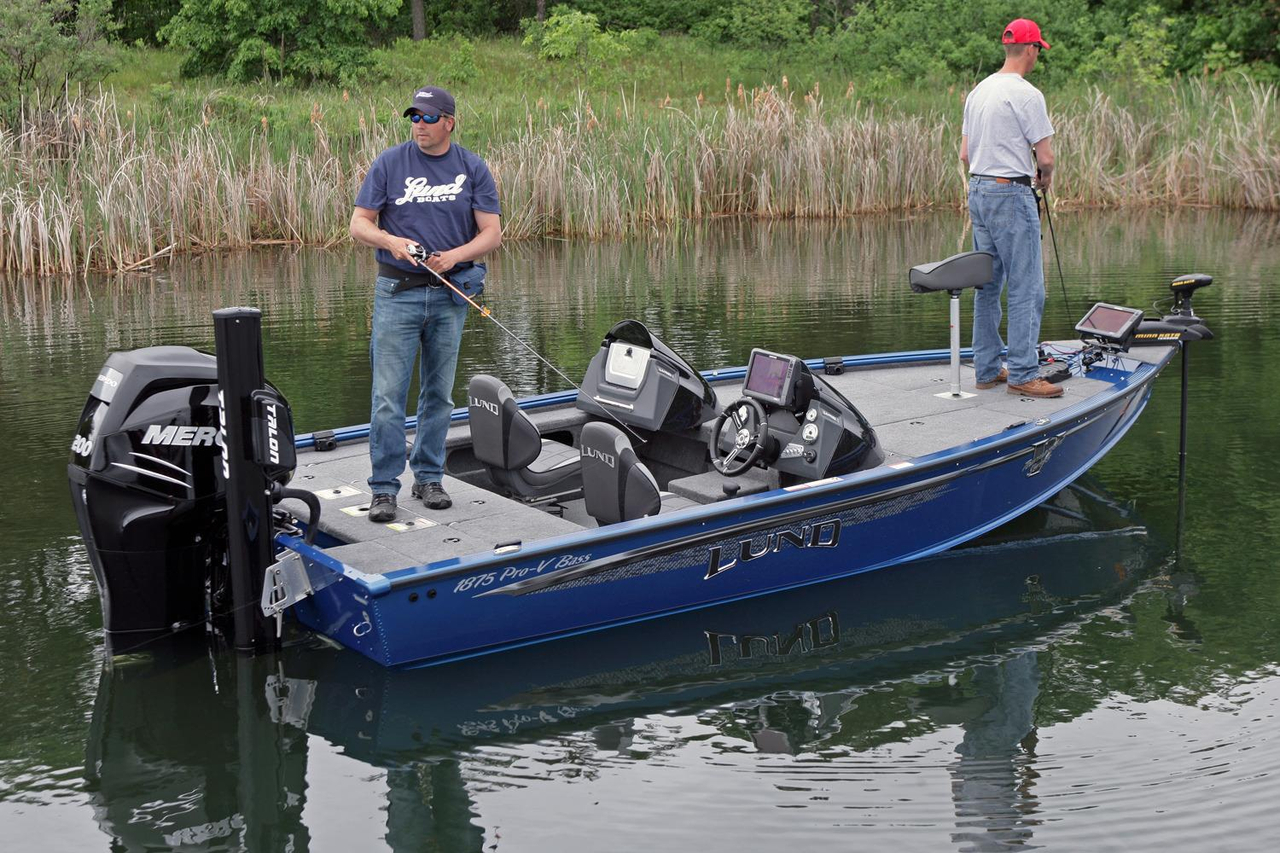 2017 new lund 1875 pro v bass boat for sale coldwater for Bass fishing boats for sale